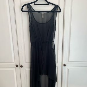 Sheer black cover up